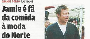 """Jamie elogia gastronomia portuense"""