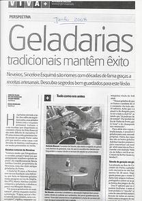 """""""Geladarias tradicionais mantêm êxito"""""""