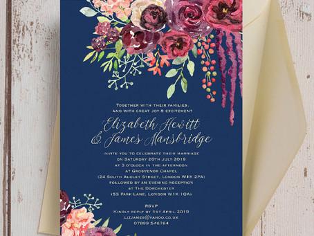 Características do Convite de Casamento