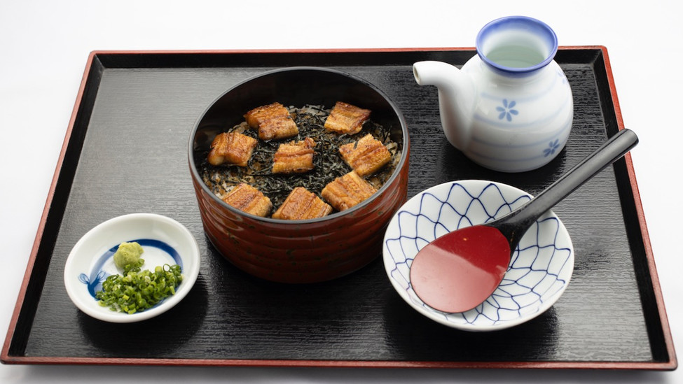 うなぎまぶし (お新香 お出汁 薬味付)