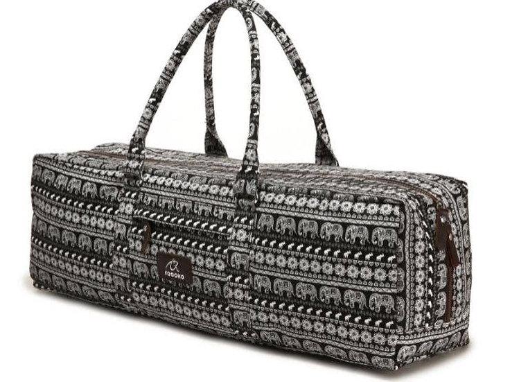 Black and White Elephant Yoga Mat Bag