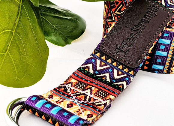 Aztec Patterned Yoga Strap