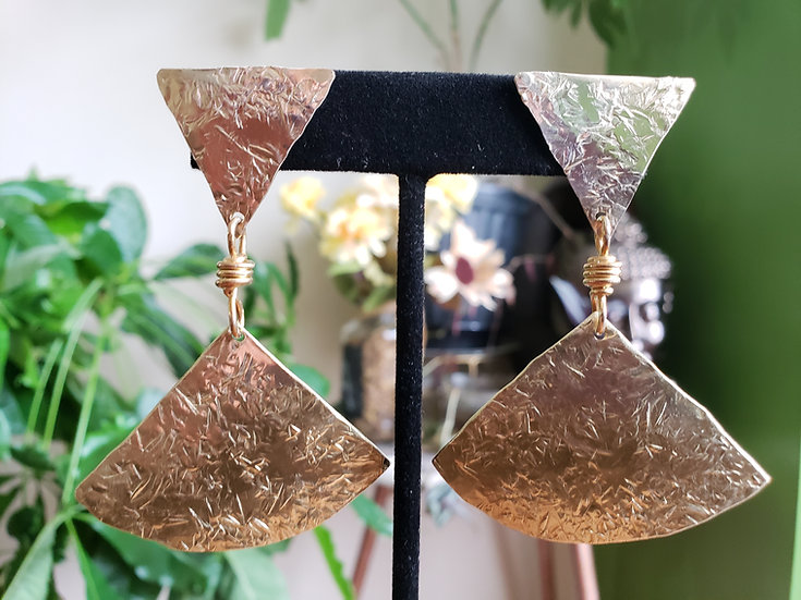 Brass or Copper Royalty Earrings