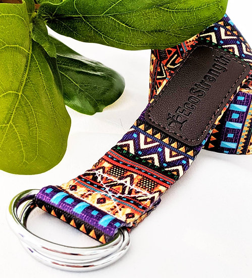 Aztec Patterned Yoga Strap
