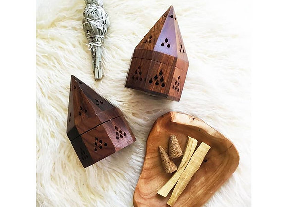 Wooden Incense Cone Box