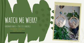 Watch Me Werk: Brass + Teal Isis Earrings