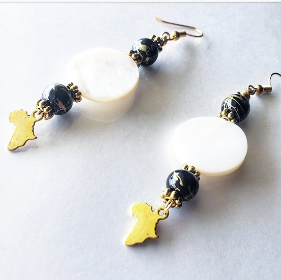 Black and Gold Beaded mini Africa