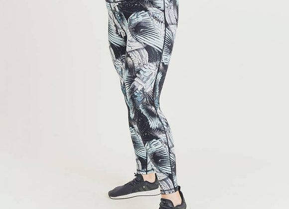 Feathered Floral Highwaisted Leggings Plus Size