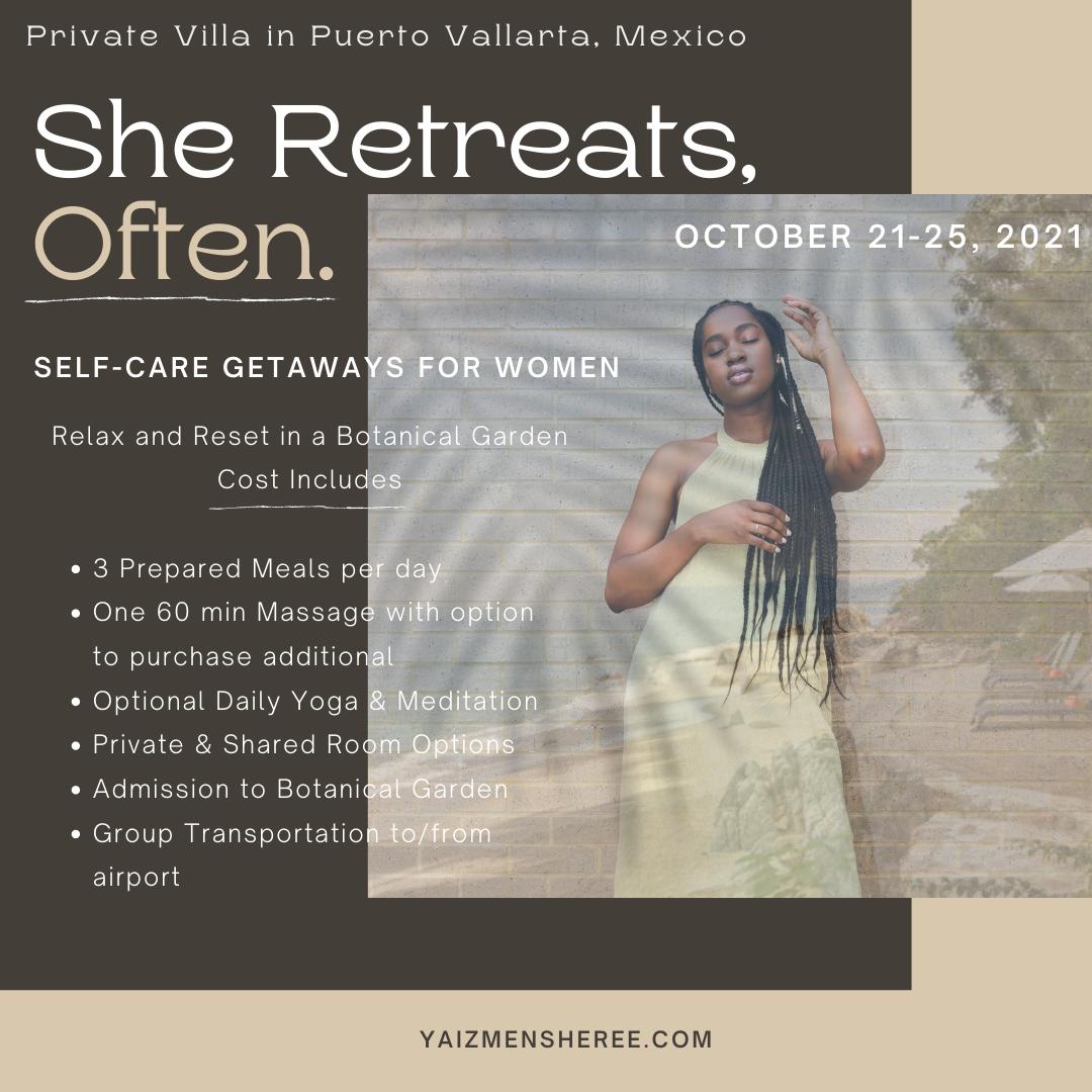 Deposit: She Retreats, Often.