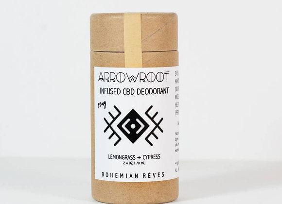 Arrowroot + Earth Clay 15 mg CBD Infused Deodorant