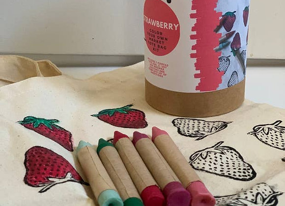 Strawberry- Color Your Own Market Tote Kit