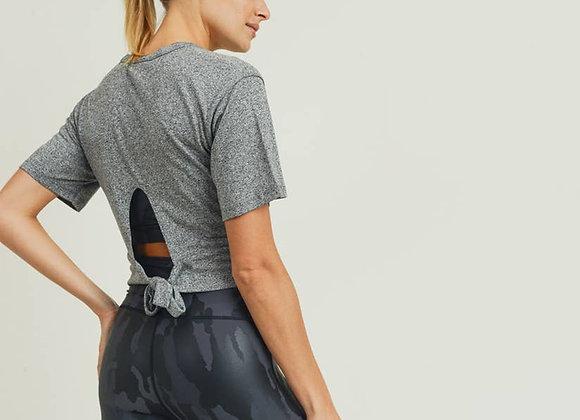 Cross-Front Tie-Back Crop Top