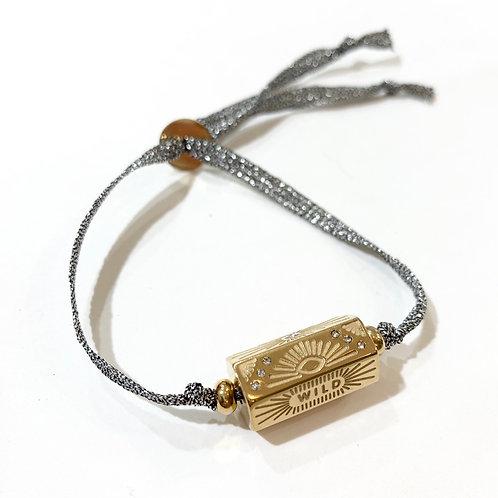 Bracelet talisman et cordon argent