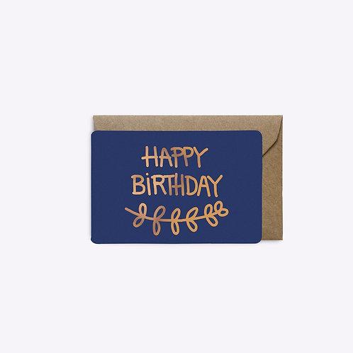 Mini carte birthday palme