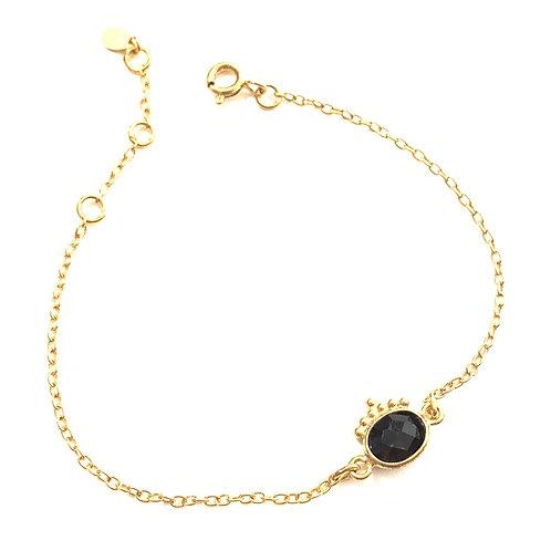 Bracelet onyx et billes