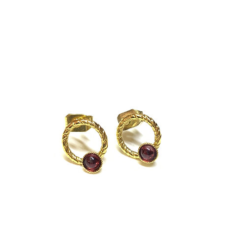 Boucles Lily grenat