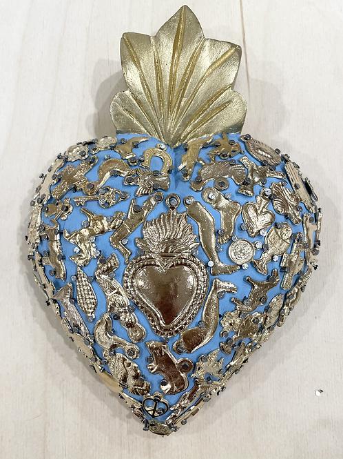 Coeur Milagro serti bleu