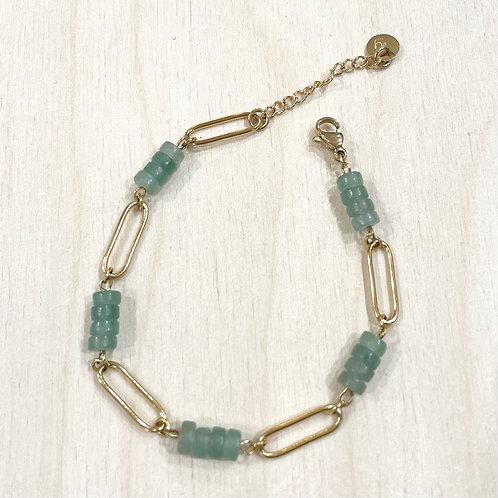 Bracelet maillon et pierres