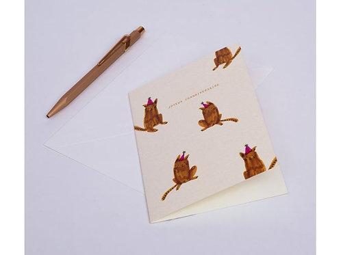 Carte chats festifs