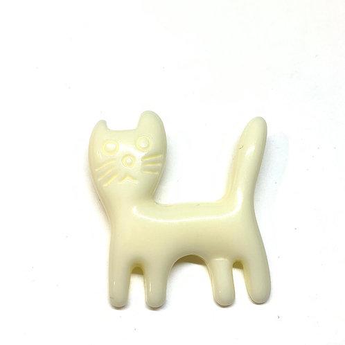 Broche petit chat ivoire