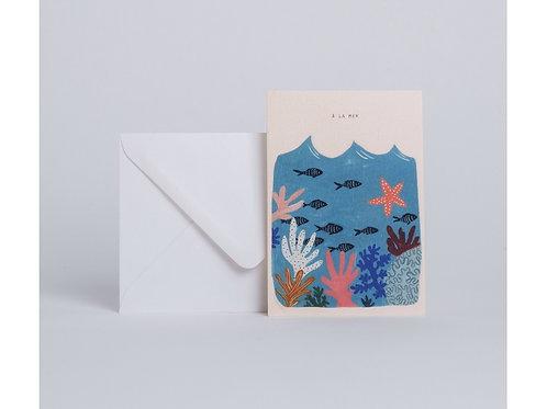 Carte corail à la mer