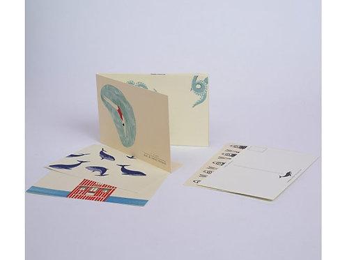 Bloc de cartes postales à la mer