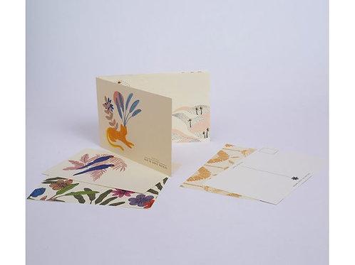 Bloc de cartes postales tropicales