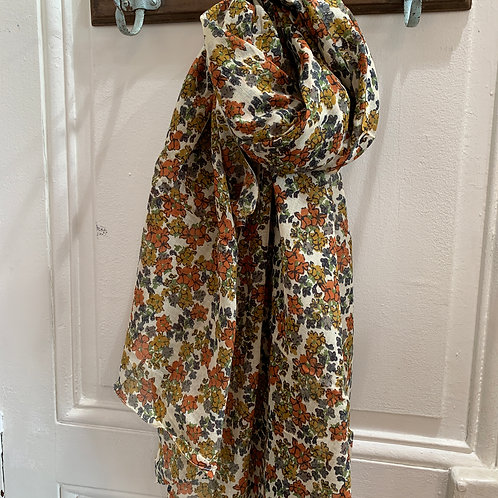Foulard fleurs d'automne