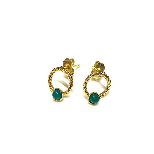 Boucles Lily agate verte