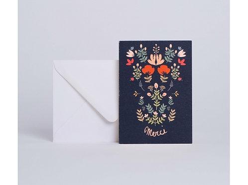 Carte bouquet folk