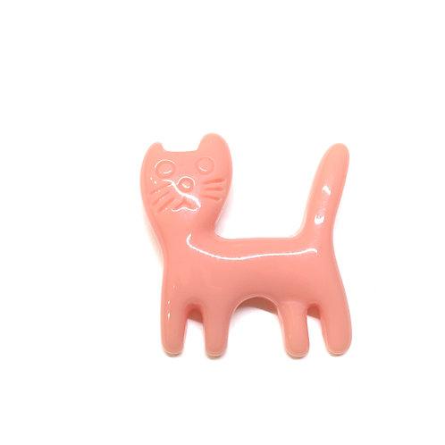 Broche petit chat rose