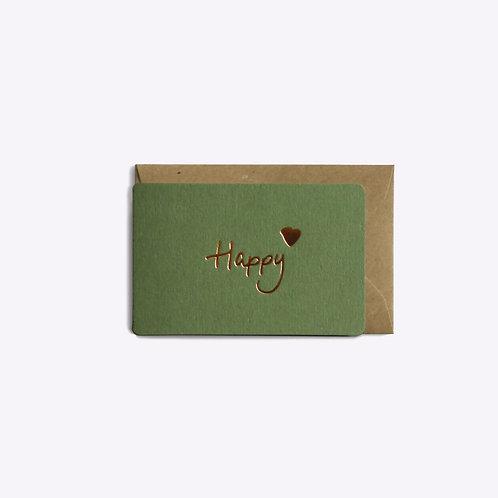 Mini carte happy