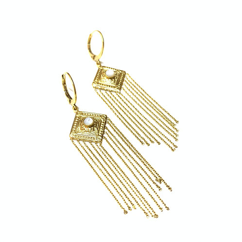 Boucles Théodora chaines nacre