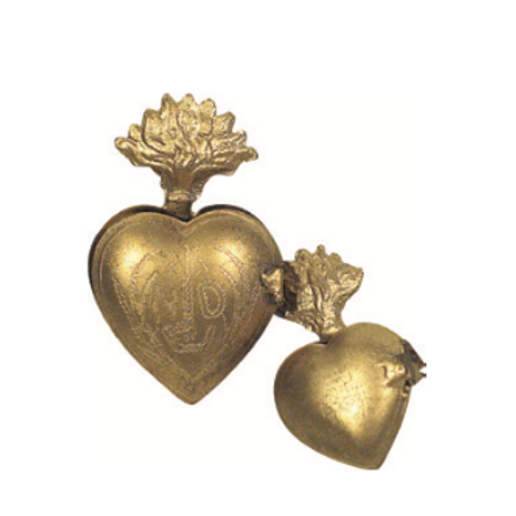 Petite boite coeur gold