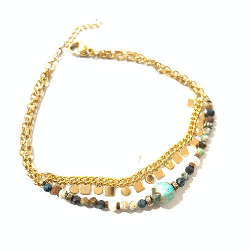 Bracelet double pierres