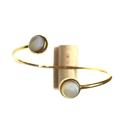 Bracelet cabochons nacre