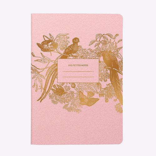 Cahier ligné paradis rose