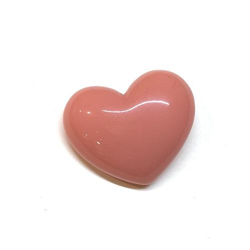 Broche coeur rose