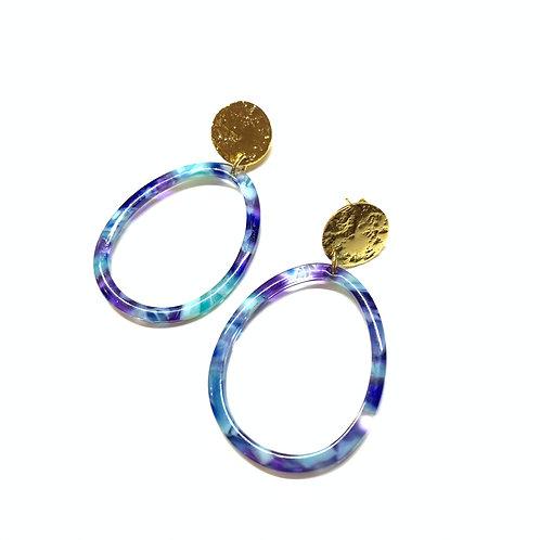Boucles Anita bleues