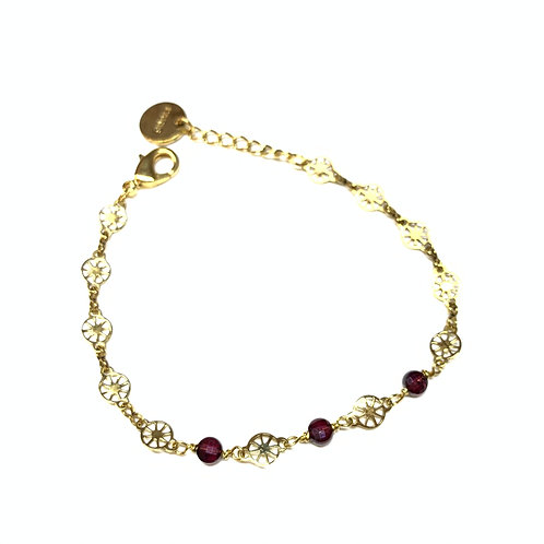 Bracelet Joséphine grenat