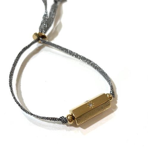 Bracelet talisman 2 et cordon argent
