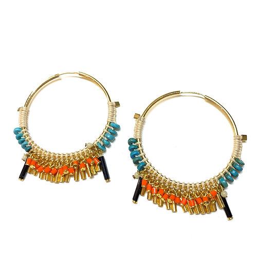 Boucles Frida GM turquoises