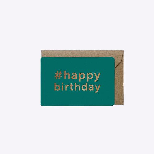 Mini carte #happy birthday
