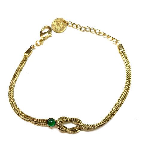 Bracelet Diane agate verte