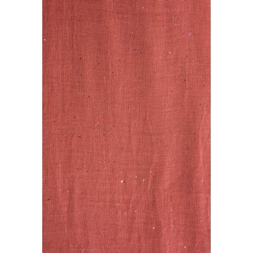 Foulard pailleté rose foncé