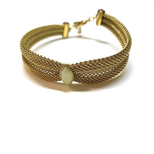 Bracelet Jade jaune pâle