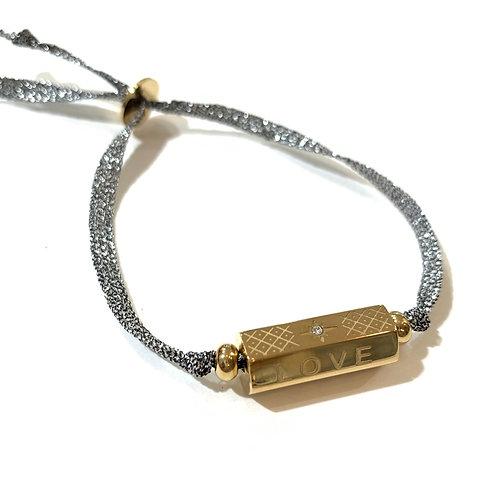 Bracelet talisman 3 et cordon argent