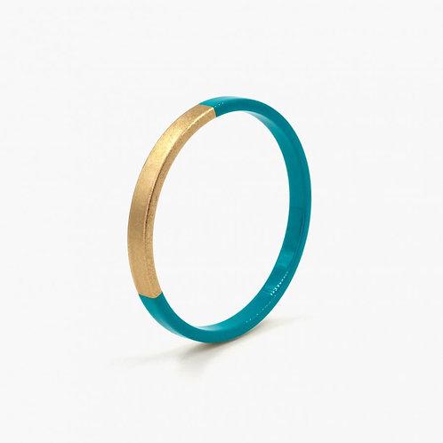 Bracelet Trinity rond bleu paon
