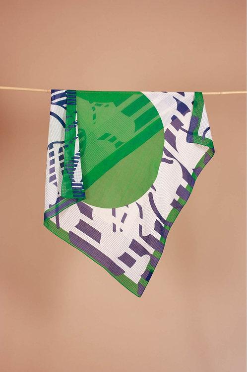 Foulard colchique vert