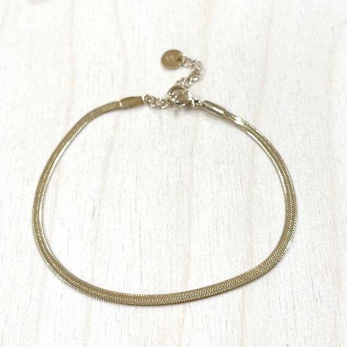 Bracelet maille plate